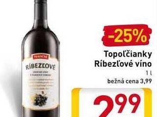 Topoľčianky Ríbezľové víno  1 l