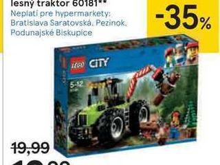 Lego City lesný traktor 60181