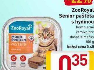 ZooRoyal Senior paštéta s hydinou 100 g
