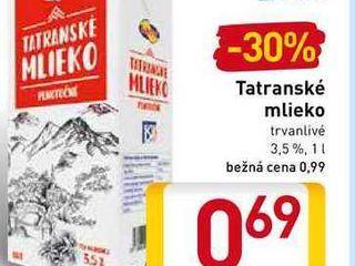 Tatranské mlieko 1 l