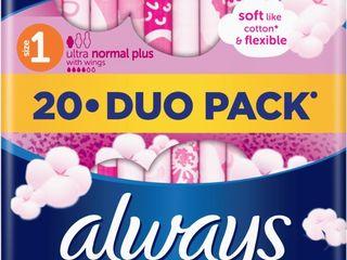 Obrázok Always ultra duo sensitive normal dámske vložky 1x20 ks