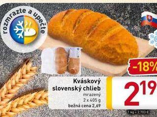 Kváskový slovenský chlieb  2x405 g
