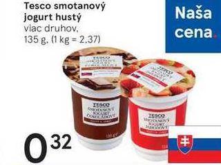Tesco smotanový jogurt hustý, 135 g