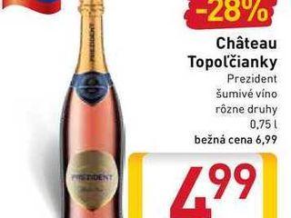 Château Topolčianky Prezident šumivé víno  0,75 l